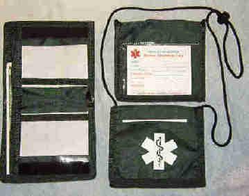 Medical Alert Wallets, Bi--fold Neck Medical Wallet, color forest green photo