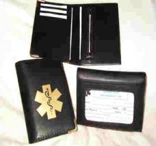 Medical Alert wallets, Street Smart Vinyl bi-fold Wallet