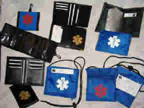 Medical Alert Wallets group of 6 photo